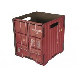 WERKHAUS Papierkorb Container Rot CO 1032