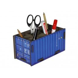 WERKHAUS Stiftebox Container Blau CO 1011