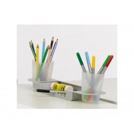 ORGOO Stiftschale mit 2x Becher basis Silbergrau 77083s