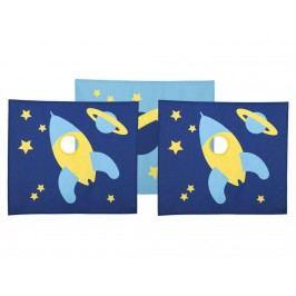 FLEXA BASIC Vorhang für Kinderbett Space Höhe 73cm 83-20174