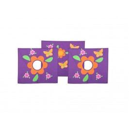 FLEXA BASIC Vorhang Blumen für Spielbett oder Etagenbett Höhe 73cm 83-20171