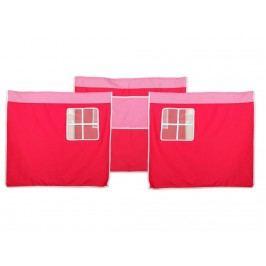 FLEXA BASIC Vorhang für Kinderbett Pink Rosa Höhe 73cm 83-20092