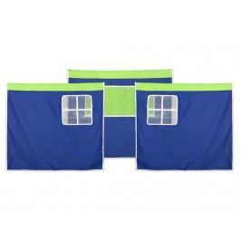 FLEXA BASIC Vorhang für Kinderbett Blau Grün Höhe 73cm 83-20031