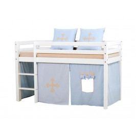 HOPPEKIDS Fairytale Knight Vorhang für Spielbett oder Etagenbett 70x160cm 36-4601-LB-07M