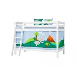HOPPEKIDS Dinosaurier Vorhang für Spielbett oder Etagenbett 70x190cm 36-2501-LB-07D