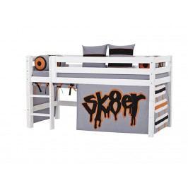 HOPPEKIDS Skater Vorhang für Spielbett oder Etagenbett 70x190cm 36-2151-SK-07D