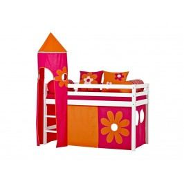 HOPPEKIDS Flower Power Turm für Spielbett Halbhoch Bett Höhe 185cm 36-4308-PI-000