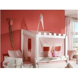 DOLPHIN Prinzessinnen-Aufsatz mit Textilien für Bett