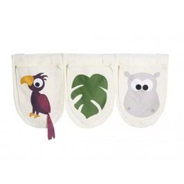 FLEXA Dschungel Betttaschen für Kinderbett 3 Stück 83-90135