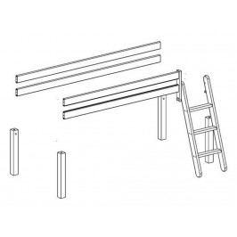 FLEXA BASIC Trendy Baukomponente für Spielbett mit Schräger Leiter Weiß lasiert lackiert 80-16302-2