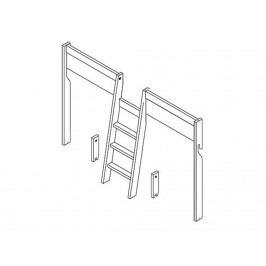 LIFETIME Leiter + Hochbett Unterbau für 4 in 1 Kombination 6209-GREY