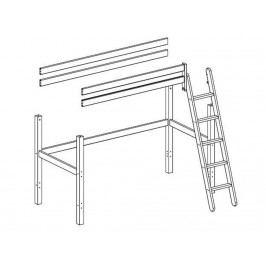 FLEXA BASIC Trendy Baukomponente für Hochbett mit Schräger Leiter 80-16502-2