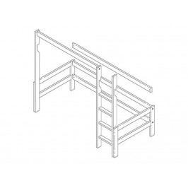 LIFETIME Original Bausatz für Hochbett mit schräger Leiter Höhe: 177cm 6402-GREY