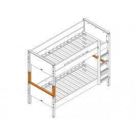 BOPITA Combiflex Supportset / Umbausatz zum Etagenbett Depp Grey 42314620