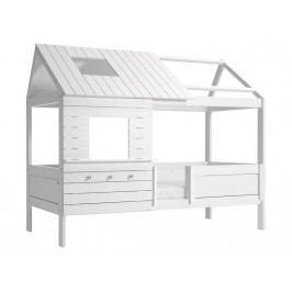 LIFETIME Original Baumhausbett Weiß mit Rollrost Hütte SilverSparkle 46107