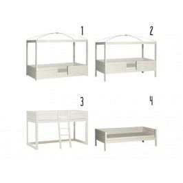 LIFETIME Kinderbett Weiß Kombibett 4 in 1, mit Deluxe Lattenrost Original 496111-01W