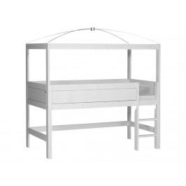 LIFETIME Original Minihochbett + Himmelgestell gerade Leiter 46361