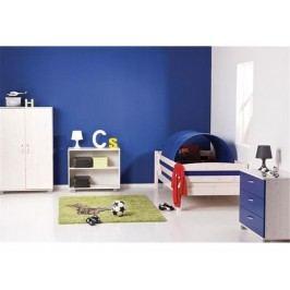 FLEXA BASIC Trendy Jugendbett mit Absturzsicherung vorne und hinten Weiß 80-16104-23