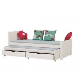 HOPPEKIDS Deluxe Sofabett Weiß 90x200cm mit Gästebett Noah A5 DELUXE 3-in1