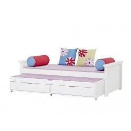 HOPPEKIDS Deluxe Sofabett Weiß 90x200cm MAJA A2 DELUXE 3-in1
