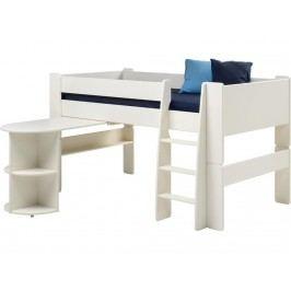 STEENS for Kids Halbhoch Bett mit Schreibtisch Gerader Leiter und Rolllattenr. 2906150