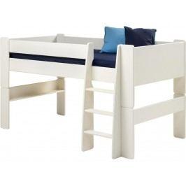 STEENS for Kids Halbhochbett mit Gerader Leiter Weiß 2906130050001N