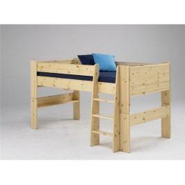 STEENS for Kids Halbhoch Bett mit Schreibtisch Gerader Leiter und Rolllattenr. 2906119