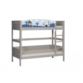 LIFETIME Original Etagenbett Weiß mit gerader Leiter und Deluxe Lattenrost