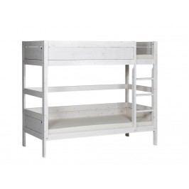 LIFETIME Original Etagenbett Weiß mit gerader Leiter und Rollrost 4630-01W