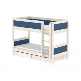 FLEXA Harmony Etagenbett mit 2 Schubladen 90x200cm Nordic Blue 90-10724-46