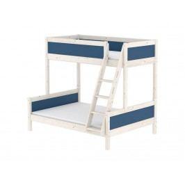 FLEXA Harmony Familienbett mit schräger Leiter 90/140x200cm Nordic Blue 80-21406-46