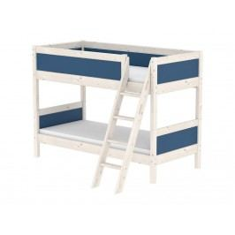 FLEXA Harmony Etagenbett mit schräger Leiter 90x200cm Nordic Blue 80-21404-46