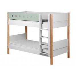 FLEXA White Etagenbett mit gerader Leiter Weiß - Natur 80-17407-22