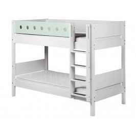 FLEXA White Etagenbett 90x190cm mit gerader Leiter Weiß 80-17406-19