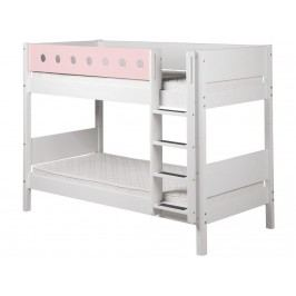 FLEXA White Etagenbett 90x190cm mit gerader Leiter Weiß 80-17406-18