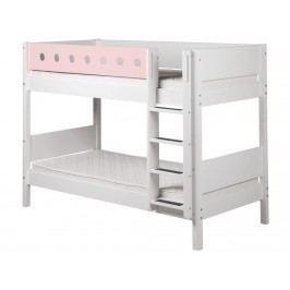 FLEXA White Etagenbett 90x190cm mit gerader Leiter Weiß