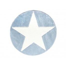 LIVONE Teppich STAR rund Blau/Weiß Ø133cm Happy Rugs Livone LT-StarRundBlau-133