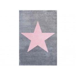 LIVONE Teppich STAR Silbergrau/Rosa 160x230cm Happy Rugs Livone LT-StarSilbergrauRosa-160