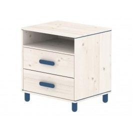 FLEXA Harmony Kommode mit 2 Schubladen und 1 Boden Nordic Blue 81-27307-46