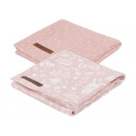 LITTLE DUTCH Adventure Pucktücher 2er-Set Pink 70x70cm 3683