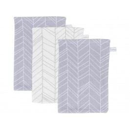 LITTLE DUTCH Leaves Waschlappen 3er-Set Grey 2935