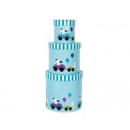 JABADABADO Aufbewahrungsboxen Hund Blau 3er-Set A3053