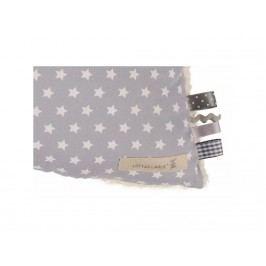 LOTTAS LABLE® Kuschelkissen Star Grau 30x60cm 17000-55