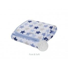LITTLE DUTCH Mixed Stars Blue Decke Pure&Soft , 70x100cm 1658