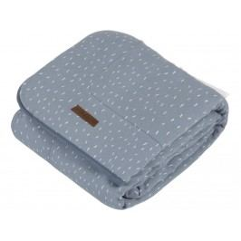 LITTLE DUTCH Adventure Decke Pure&Soft Blue Sprinkles 110x140cm 1572