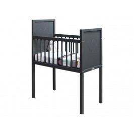 BOPITA Love Baby Wiege Grau 40x80cm 122028-20