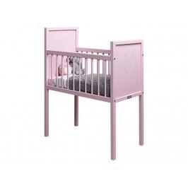 BOPITA Love Baby Wiege Rosa 40x80cm 122028-09