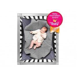 HANGLOOSE BABY Babyhängematte für Laufgitter Hellgrau/Grün HLB1002
