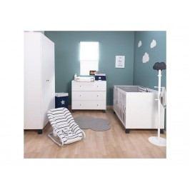 CHILDHOME Babyzimmer 3-teilig Bett Schrank Wickelkommode Union Marin
