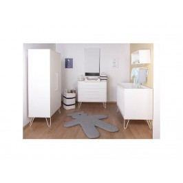 CHILDHOME Ironwood Babyzimmer 4-teilig Babybett 70x140cm White